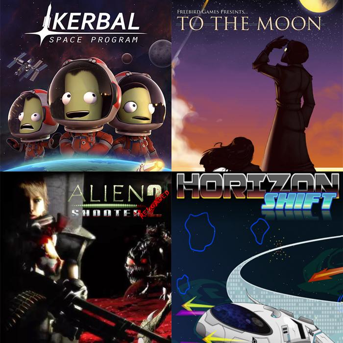 Bundle Kerbal Space Program + To The Moon + Alien Shooter 2 -Reloaded + Horizon Shift sur PC (Dématérialisé - Steam)
