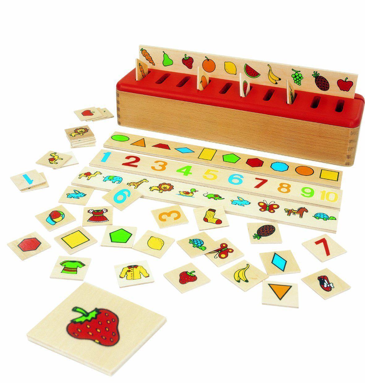 Jouet en Bois Boîte de Tri Montessori Edufun - Ef 31105