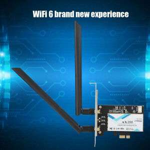 Carte Wifi 6 AX PCI-E / Intel AX200 - 2.4G/5 Ghz, 802.11ac/ax, Bluetooth 5