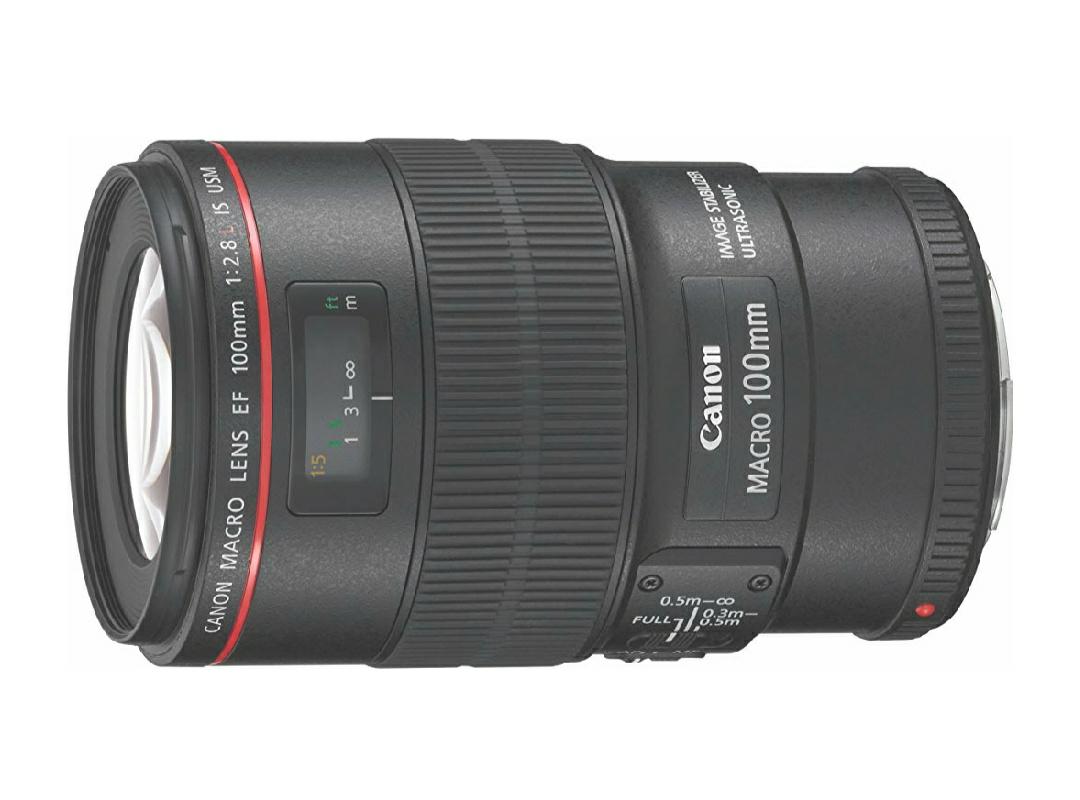 Objectif  Canon EF 100 mm f/2,8 Macro L IS USM - Stabilisateur d'image 4 vitesse (Vendeur tiers)