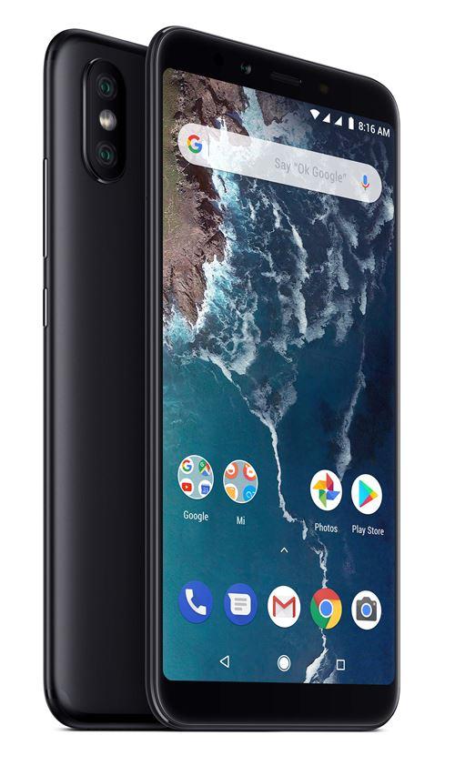 "Smartphone 5.99"" Xiaomi Mi A2 - double-SIM, full HD+, SnapDragon 660, 4 Go de RAM, 32 Go, noir"