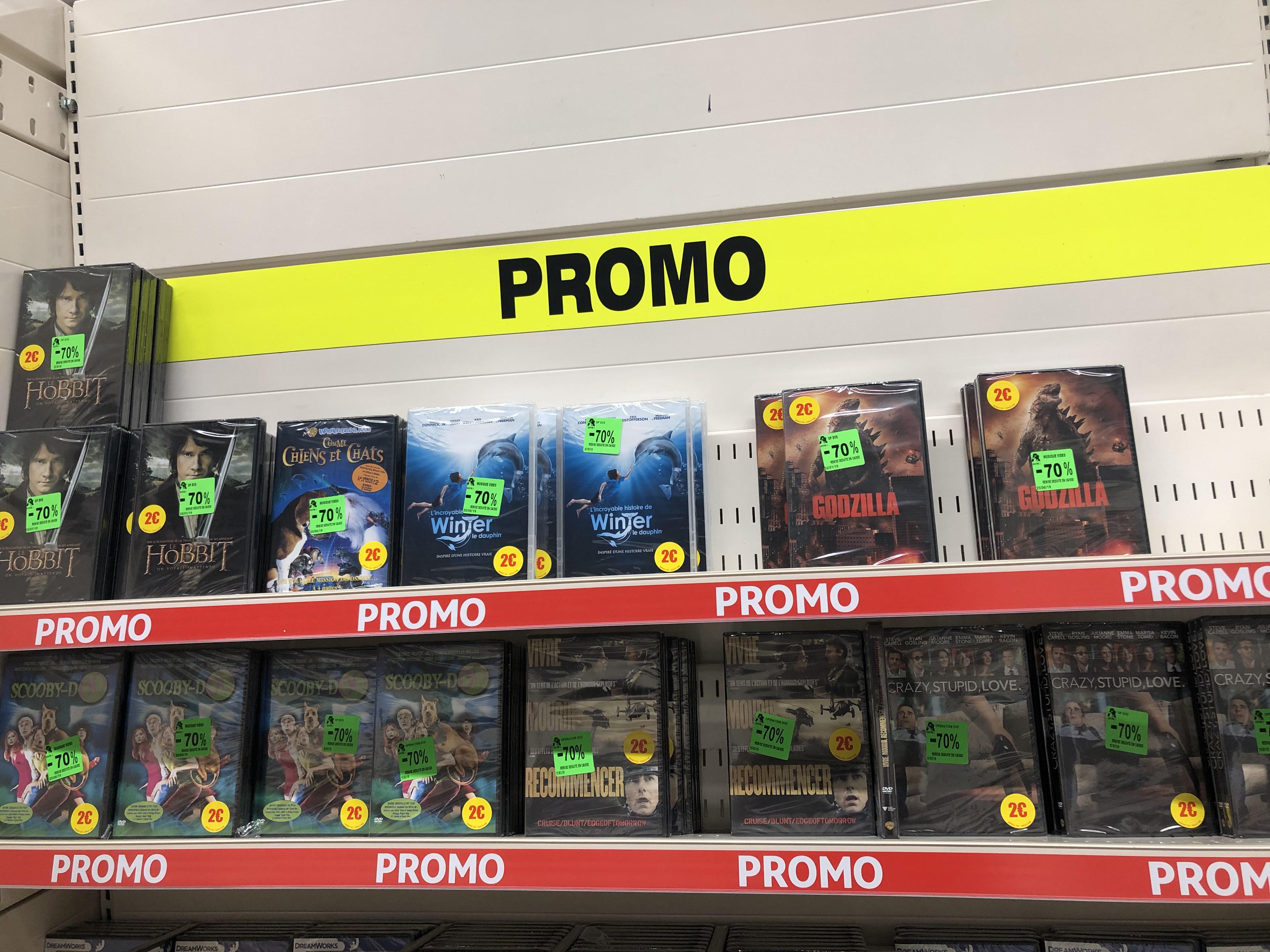 Sélection de Films DVD à 0,60€ - Ex : Godzilla, Crazy Stupid Love, Le Hobbit - Centre 2 (42)