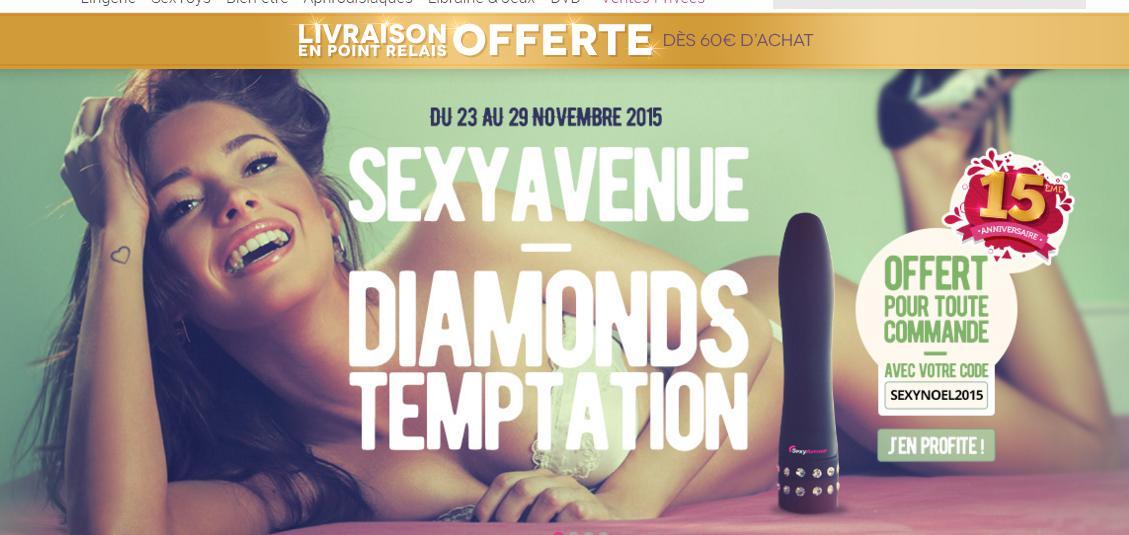 vibromasseur Diamonds temptation offert pour toute commande