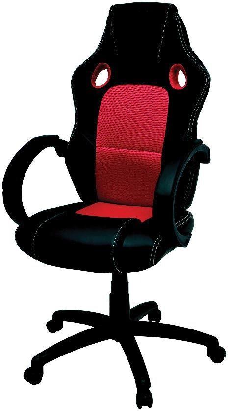 Fauteuil de bureau réglable - noir / rouge