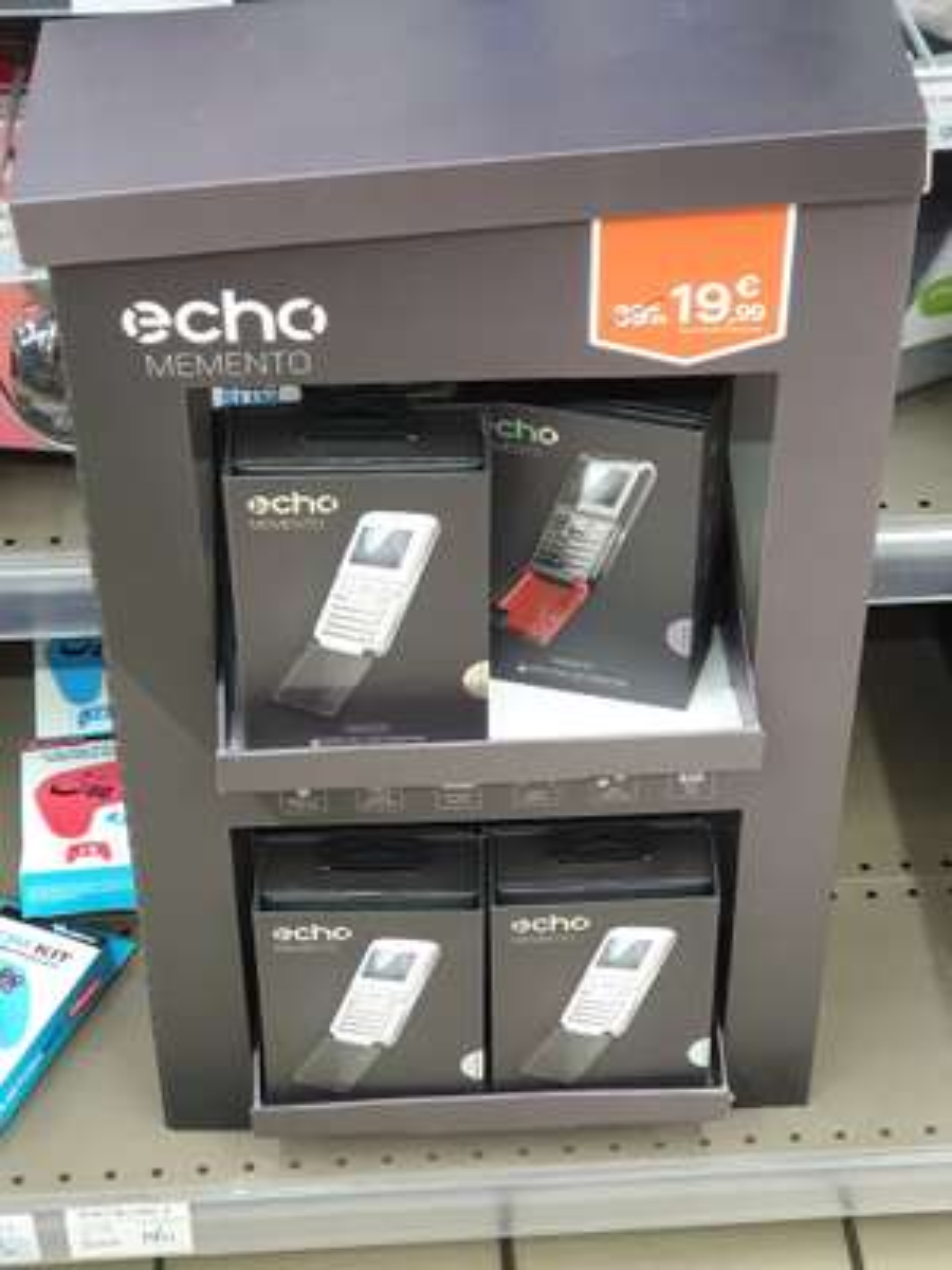 Telephone 2G Echo Memento - Double SIM, Bluetooth 2.0 - Super U Ecouen (95)