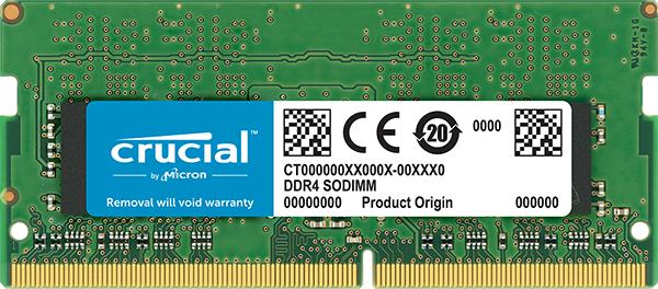 Barrette Mémoire RAM Crucial 8Go - DDR4-2666, SODIMM