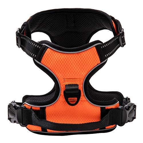 Harnais pour chien Qklovly - Taille XL, Orange noir (Vendeur tiers)