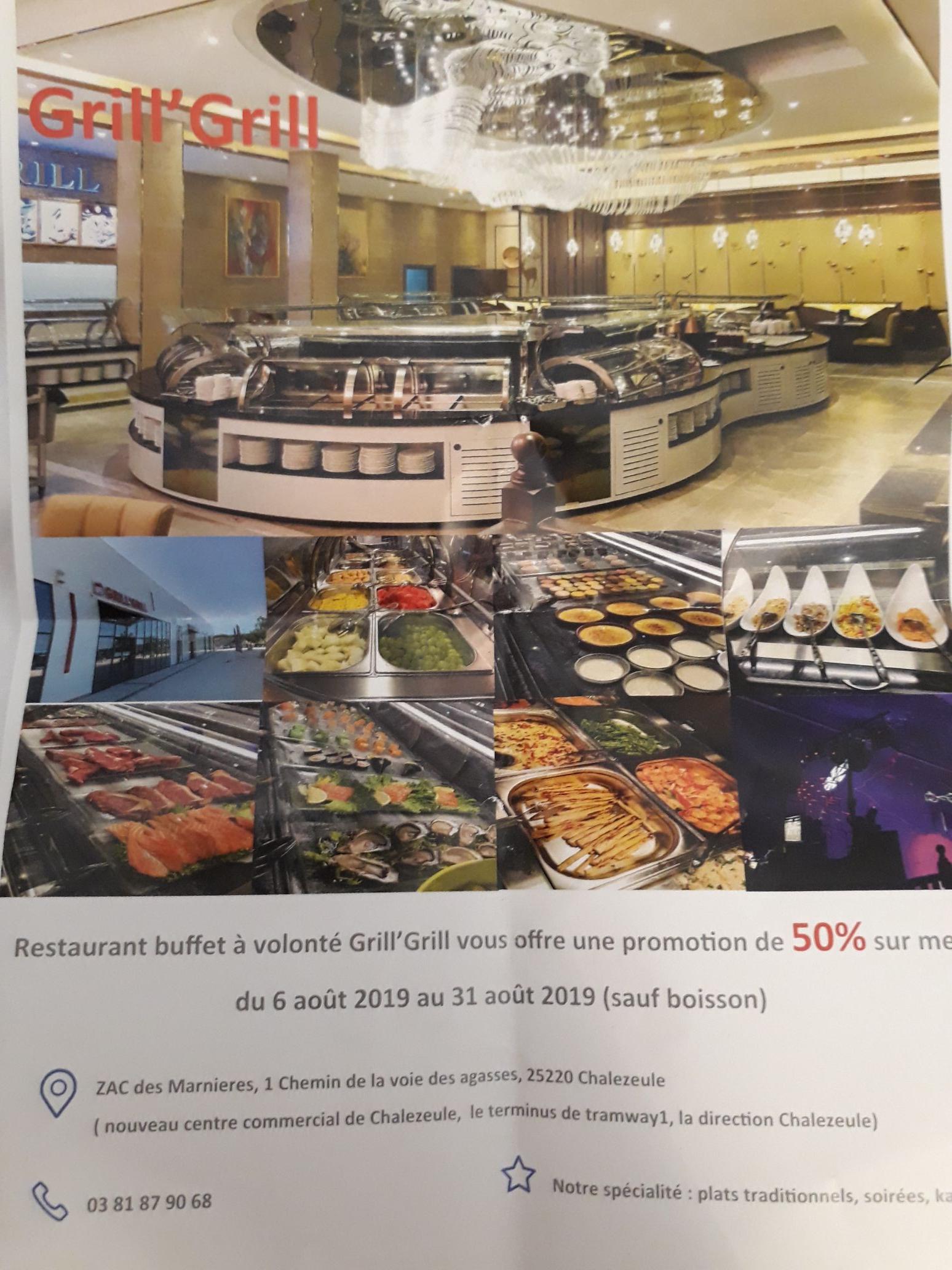 50% de réduction sur votre menu - Grill&Grill Besançon (25)