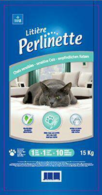 Litière Perlinette pour chats sensibles et NAC 15 kg(10mois)