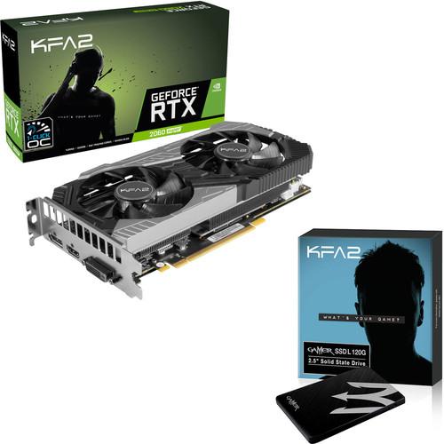 """Pack Carte graphique KFA2 GeForce RTX 2060 SUPER EX (8 Go) + SSD interne 2.5"""" KFA2 Gamer L (240 Go)"""