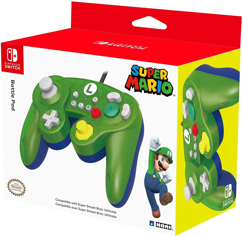 Manette USB style GameCube Officielle pour Nintendo Switch - Luigi