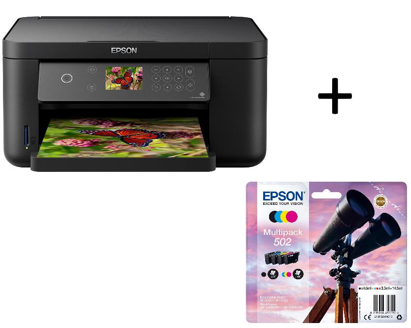 Imprimante multifonction Epson Expression Home XP-5100 - Jet d'encre couleur, USB, Wifi, Impression Recto Verso (via ODR 60€) + Lot de 4 cartouches multicouleurs