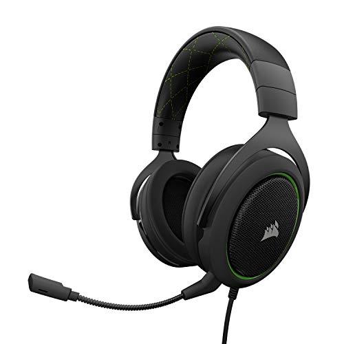 Casque audio filaire Corsair HS50 - avec micro, noir / vert