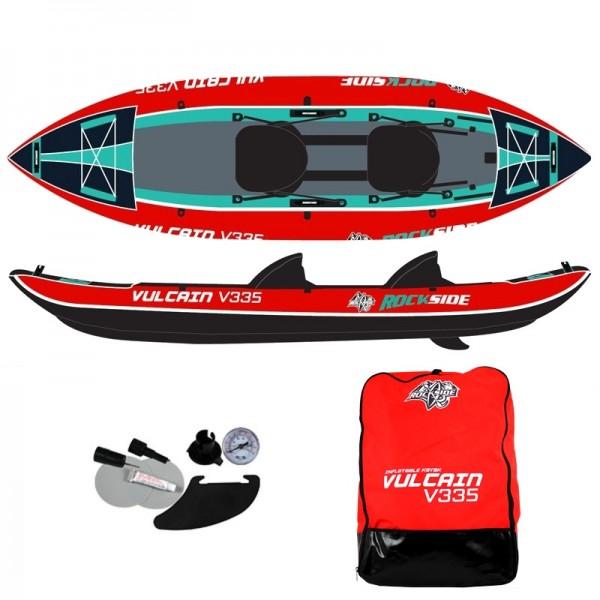 Kayak gonflable 2 places RockSide Vulcain V335 - 200 kg max.