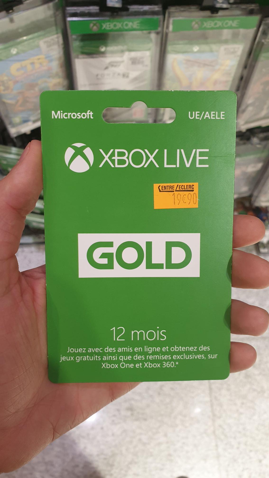 Carte d'abonnement de 12 mois au Xbox Live Gold - Clermont-Ferrand (63)