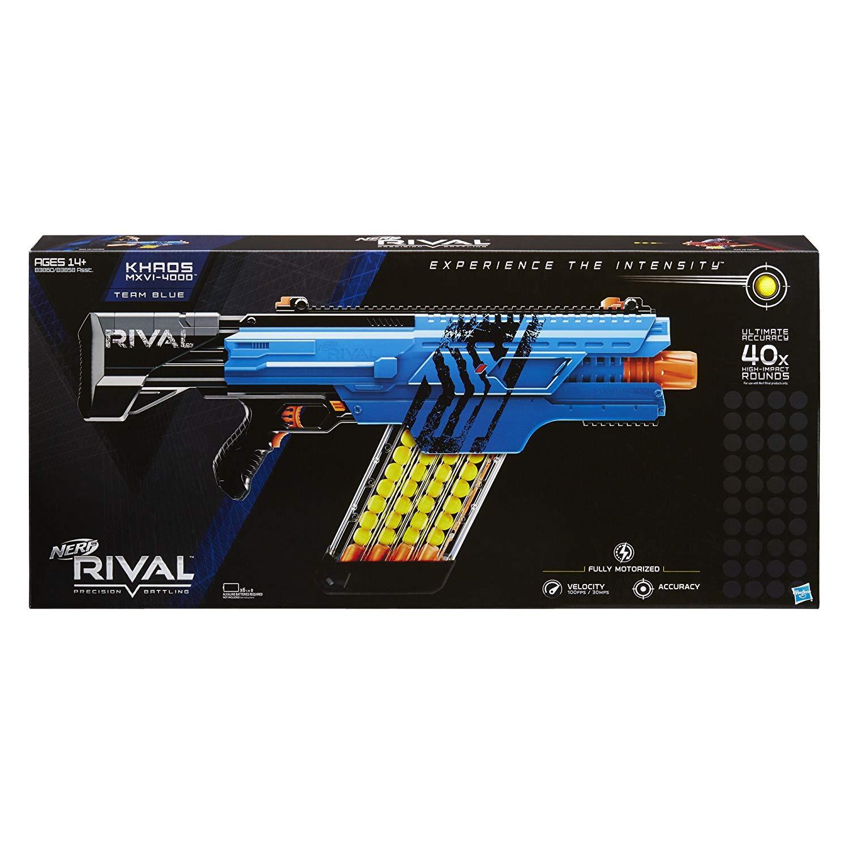 Pistolet à billes Nerf Rival Khaos MXVI-4000 Blaster - bleu ou rouge