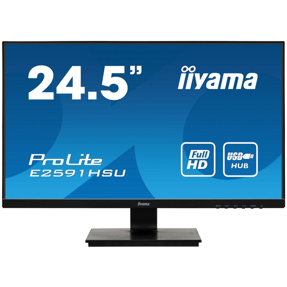 "Écran PC 24.5"" Iiyama ProLite E2591HSU-B1 - full HD, LED TN, 1 ms, FreeSync"