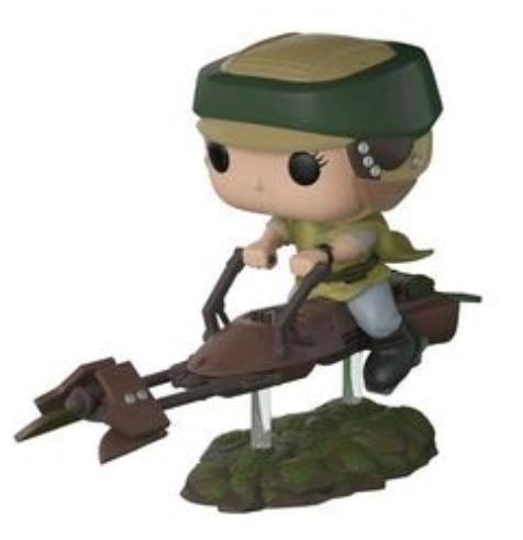 Figurine Pop! Star Wars - Leia sur un Speeder (Via l'Application)