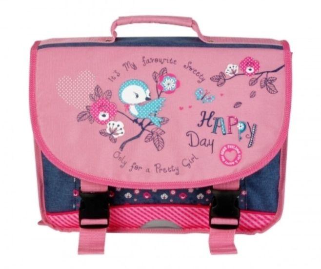 Cartable Happy Days - 38 cm, Rose