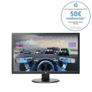 "Ecran PC 24"" HP 24o - FullHD, Dalle TN, 1ms (via ODR de 50€)"