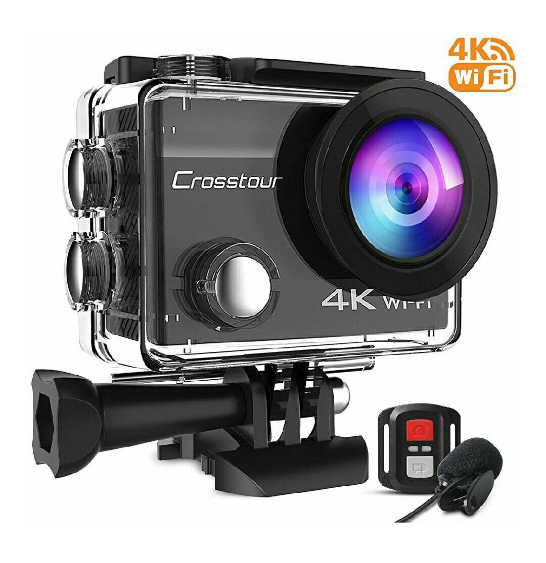Caméra sportive Crosstour CT8500 + accessoires + microphone externe + 2 batteries (vendeur tiers)