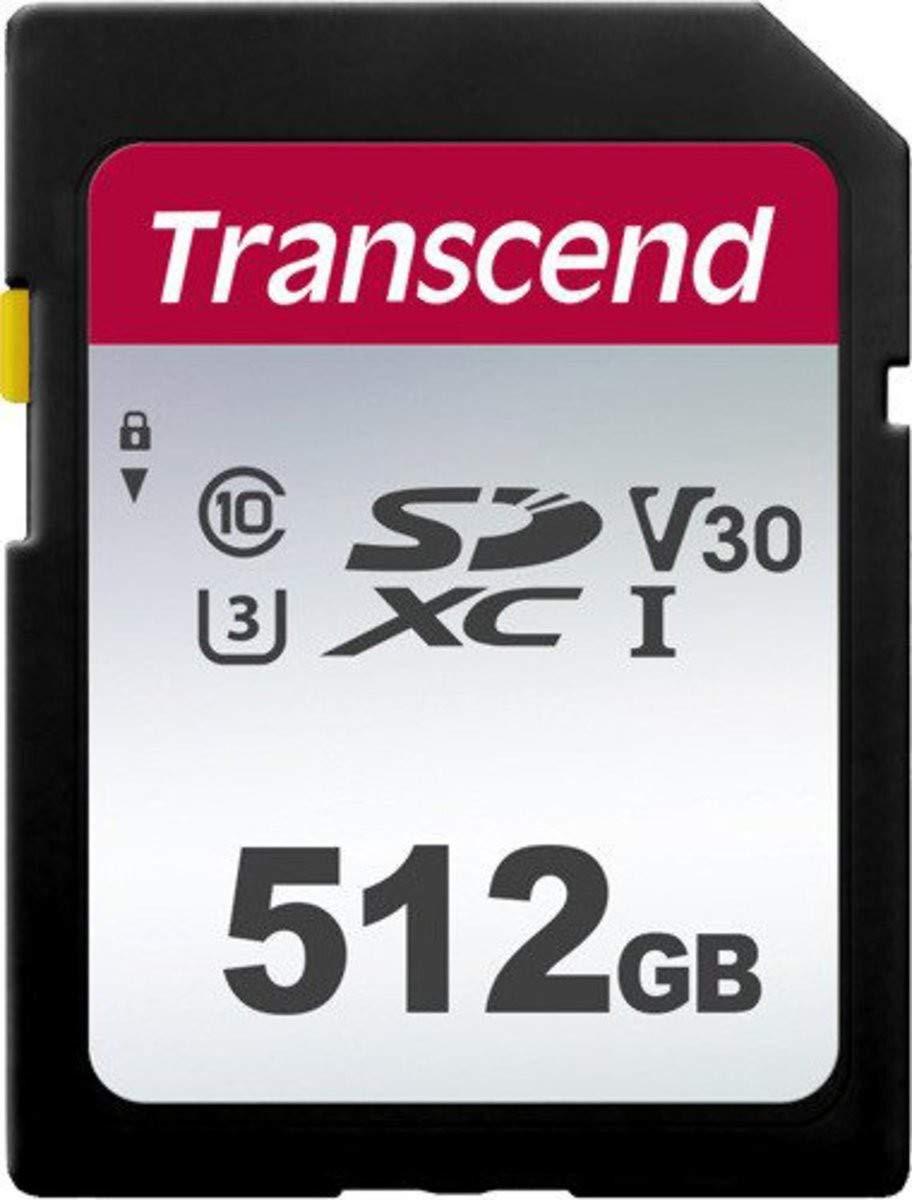 Carte mémoire SDXC Transcend (TS512GSDC300S-E) - 512 Go, Classe 10, V30
