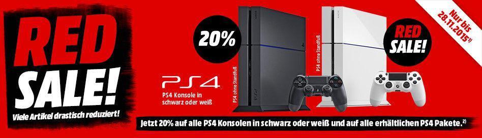 20% de réduction sur tous les pack PS4 - Ex : Console Nue 500Go