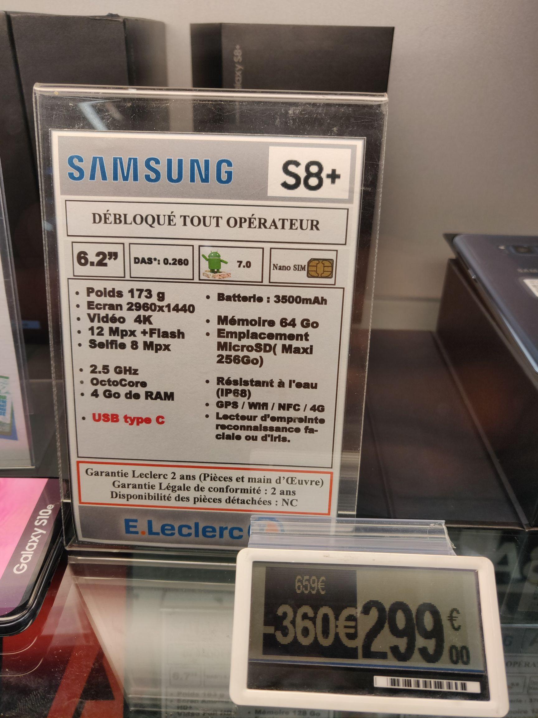 """Smartphone 6.2"""" Samsung Galaxy S8+ Plus - 4 Go de ROM, 64 Go de ROM - Saint-Orens (31)"""