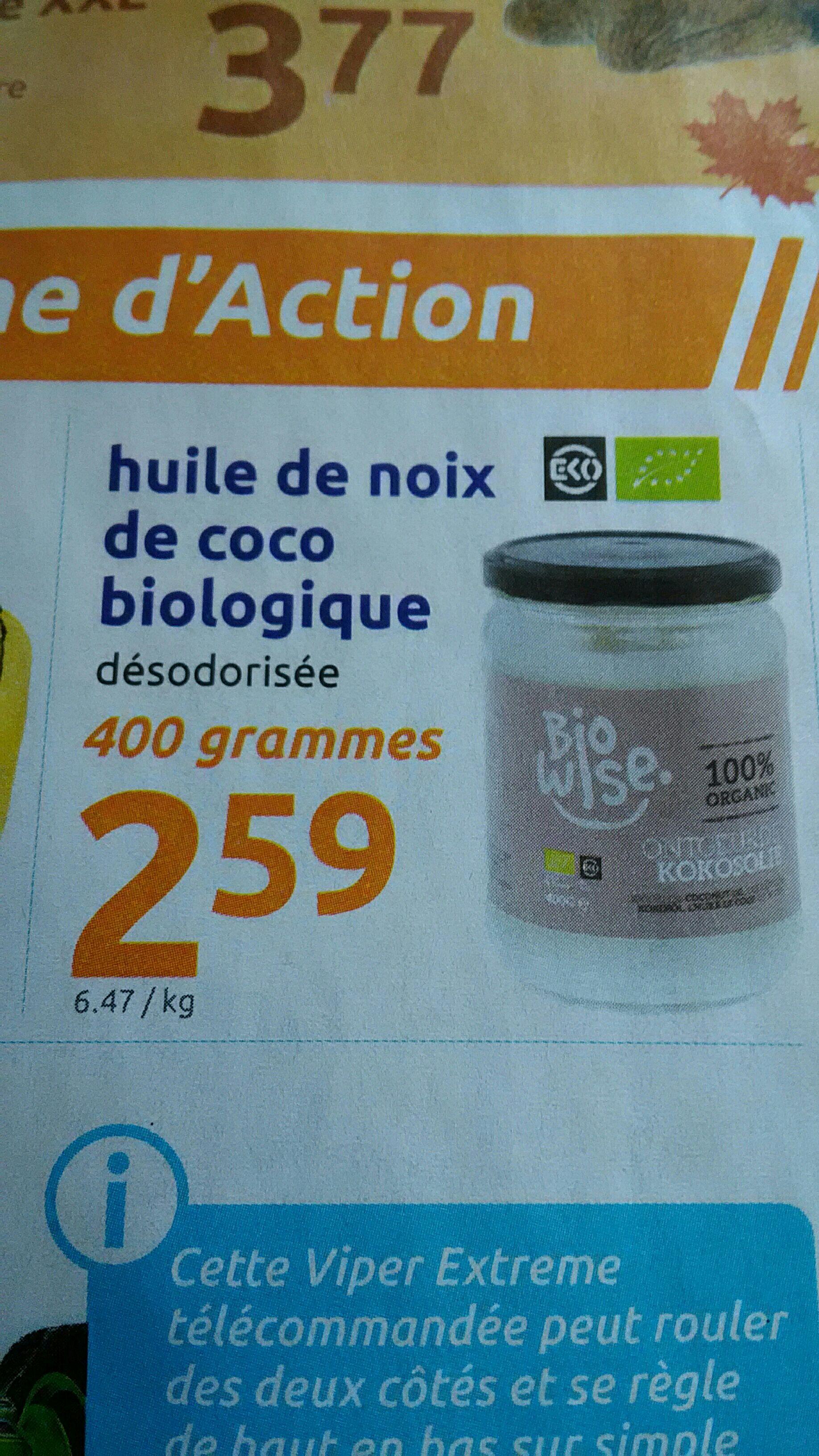 Huile de noix de coco biologique - 400g