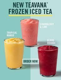 1 boisson Frozen Teavana achetée = 1 offerte parmi les restaurants Starbucks participants