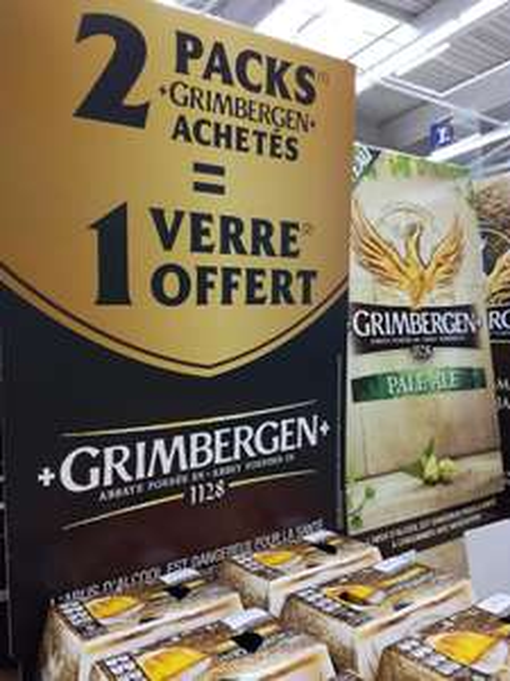 1 Verre Grimbergen offert pour l'achat de 2 packs de bières Grimbergen (6x25 cl) - Caen (14)
