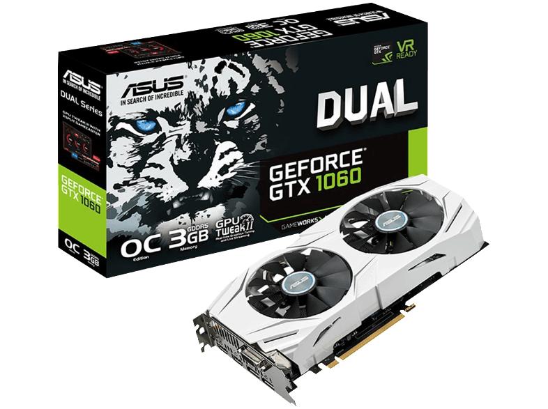 Carte Graphique Asus GeForce Dual GTX 1060 3Go Version OC (Frontalier Allemagne)