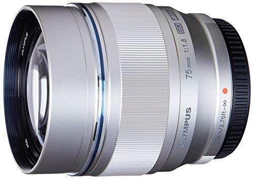 Objectif pour appareil photo Olympus M.ZUIKO Digital ED - 75 mm f/1.8, Argent