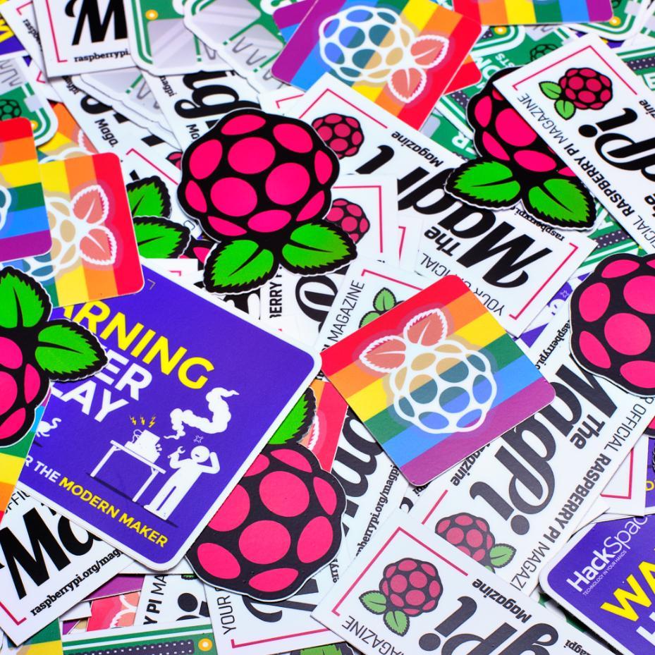 Packs de Stickers Raspberry Pi gratuits (Raspberrypi.org)