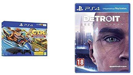 Console Sony PS4 Slim 1To - Crash Team Racing + 2ème Manette + Detroit: Become Human