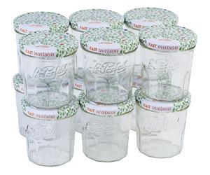 Lot de 12 pots de confiture Le Parfait - en verre, avec couvercles