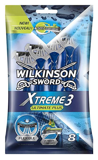 Pack de 8 rasoirs jetables Wilkinson Xtreme 3 Ultimate Plus (Via 5.31€ sur la Carte Fidélité)