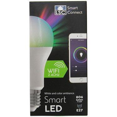 Ampoule connectée LSC Smart Connect - RGB E27 806 lumens