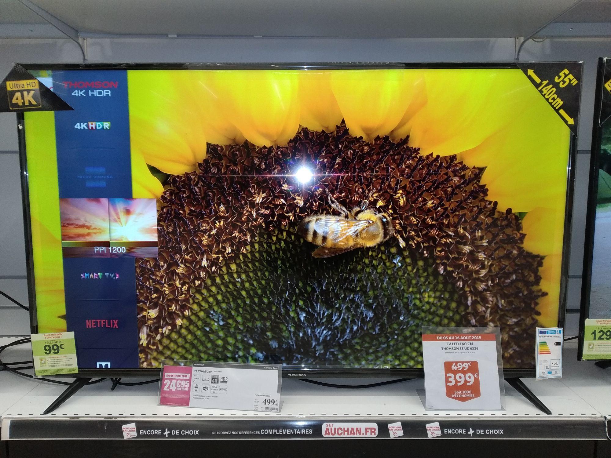 """TV LED 55"""" Thomson 55UD6326 - 4K Ultra HD, Smart TV  - Marseille (13)"""