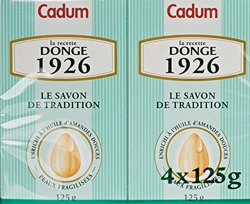 Lot de 4 savons de Tradition à l'Huile d'Amandes Douces Cadum - 4x125 g