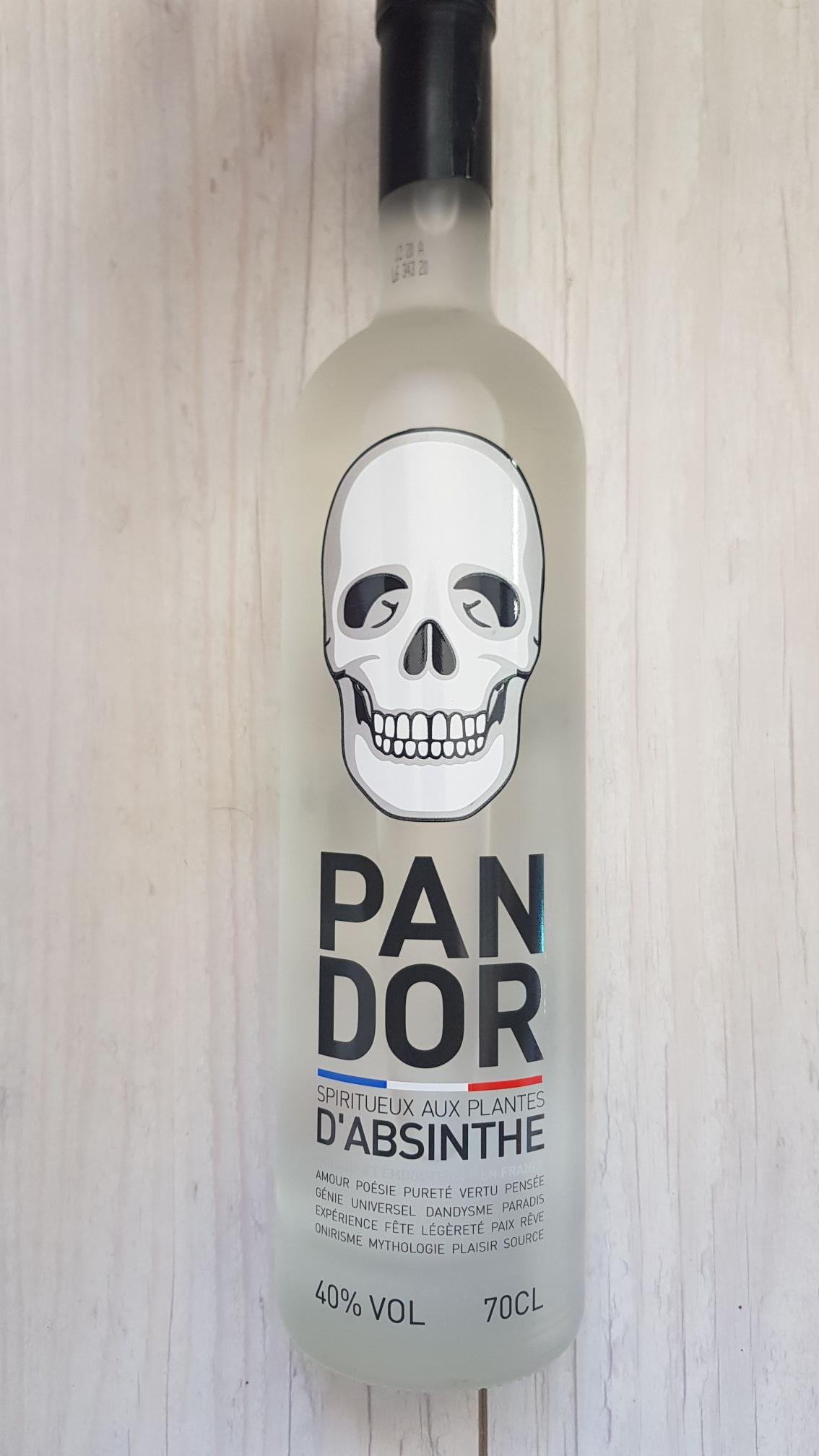 Bouteille de Pandor Spiritueux aux plantes d'absinthe (Estancarbon 31)