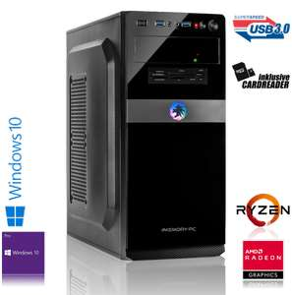 PC fixe Memory PC 5908-  AMD Ryzen 7 2700, 16 Go de RAM, AMD RX 570 8 Go , SSD 240 Go, Win 10 Pro