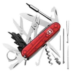 Couteau d'Officier Victorinox Cybertool Lite - Rouge Transparent