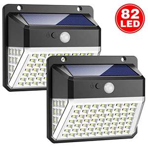 2 Lampes Solaire Extérieure Trswyop, 82 LED, Détecteur de Mouvement (vendeur tiers)