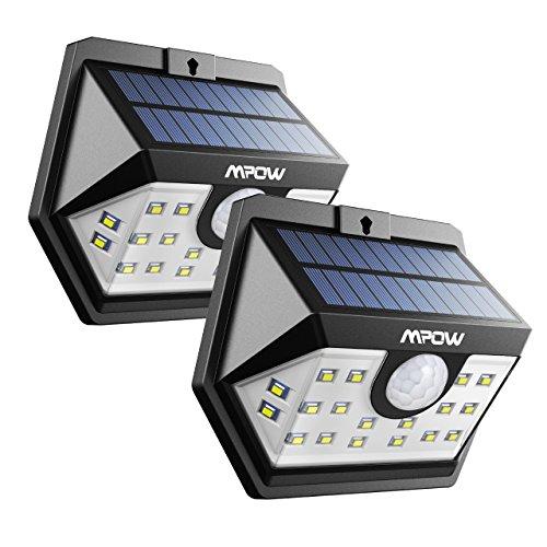 Lot de 2 lampe solaire extérieur Mpow avec detecteur de mouvement (Vendeur tiers)