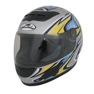 Casque intégral de moto ZK1 Speedy - Gris/Bleu