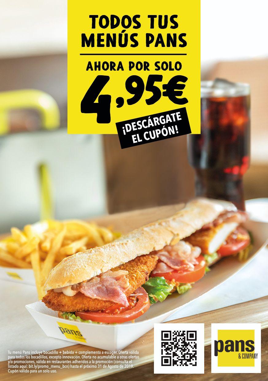 Tous les menus de Pans y Company a 4.95€ (Frontaliers Espagne)