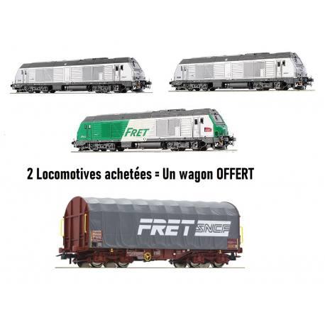 2 Locomotives de modélisme BB75000 achetées = 1 Wagon Baché Roco offert (jura-modelisme.fr)