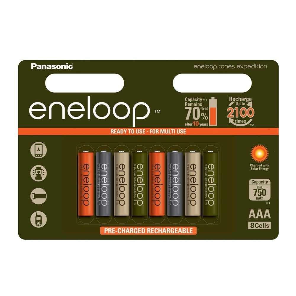 Pack de 8 piles rechargeables Panasonic Eneloop AAA - 750mAh