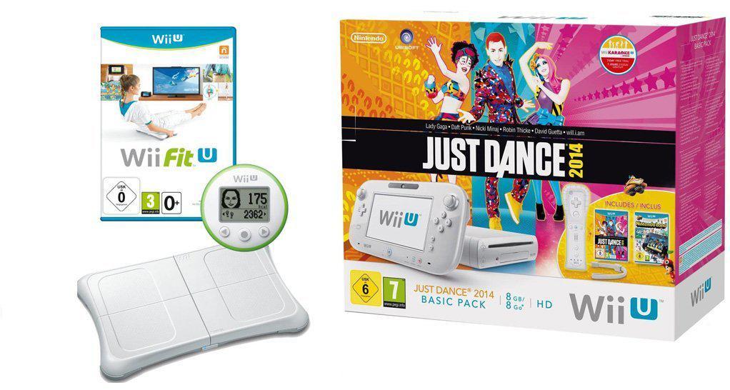 Console Nintendo Wii U 8 Go + Just Dance 2014 + Wii Fit U + Wii Balance Board
